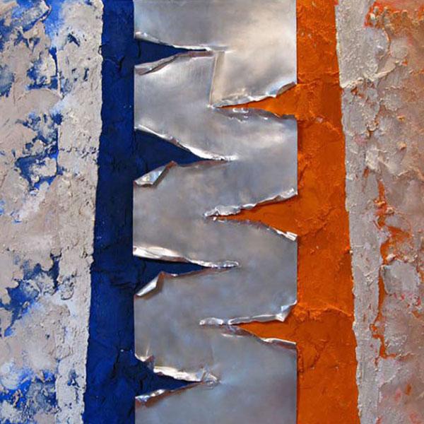 METALLO E SABBIA [180x90 cm] collezione privata