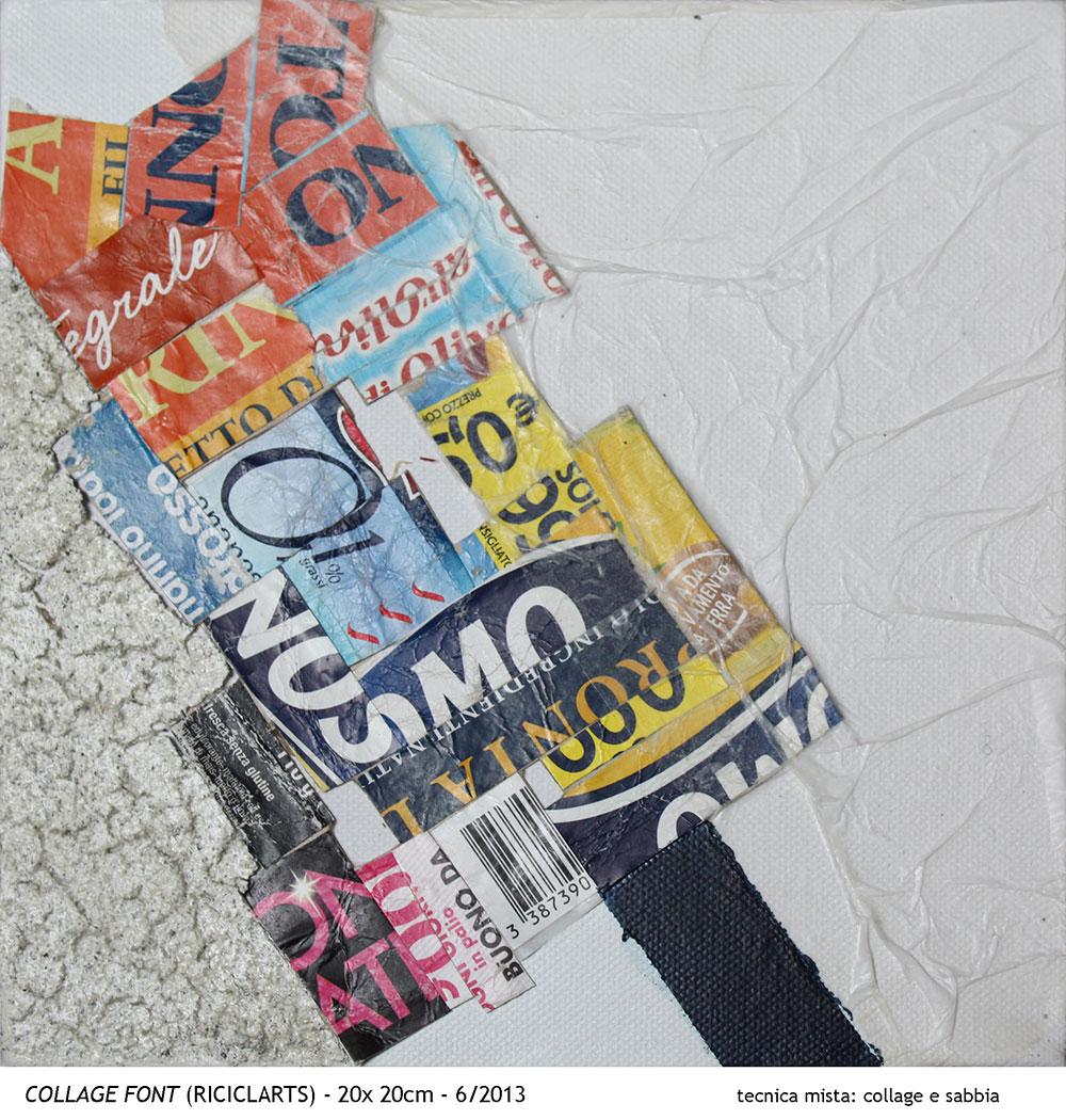 Collage font [20x20 cm]